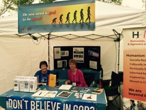 Our Outreach Booth at the Morden Corn and Apple Festival 2015
