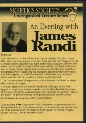 Skeptic Society – Distinguished Lecture Series – An Evening With James Randi (DVD)