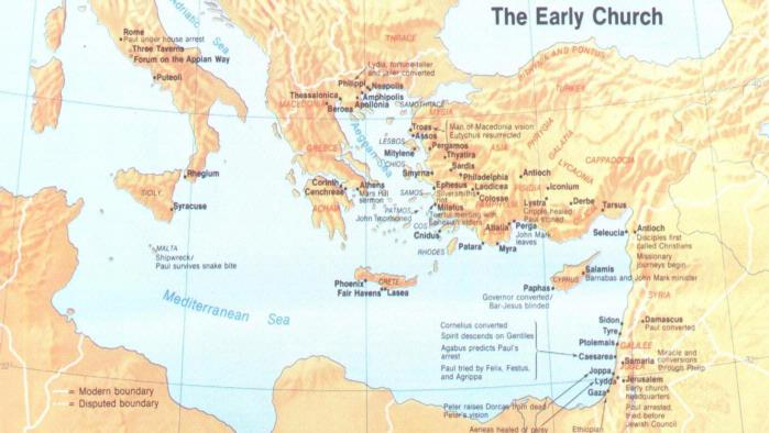 Acts of the Apostles Map