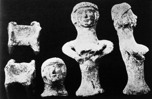 M0008439 Ancient Canaanite Teraphim. Figurines of fertility goddess. Credit: Wellcome Library, London. Wellcome Images images@wellcome.ac.uk http://wellcomeimages.org Teraphim (idol). Figurines of a fertility goddess placed in ancient Canaanite houses to ensure health. Half-tone circa 1800 BC -1400 BC ATAO Gressman Published: - Copyrighted work available under Creative Commons Attribution only licence CC BY 4.0 http://creativecommons.org/licenses/by/4.0/