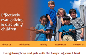 This image taken from the Child Evangelism Fellowship's website states their mission quite plainly.