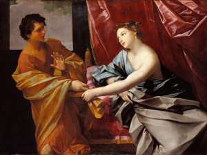 Joseph and Potiphar's wife, Guido Reni, 1630