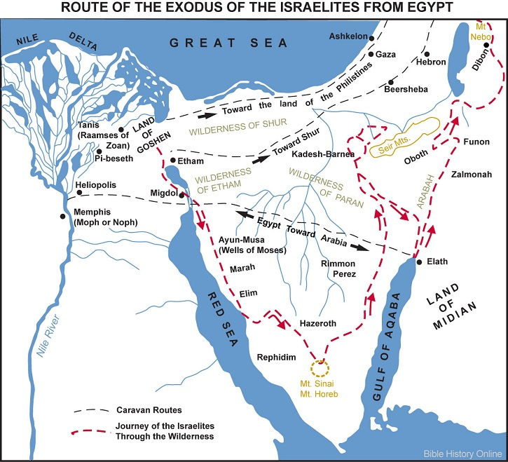 Map-Route-Exodus-Israelites-Egypt small