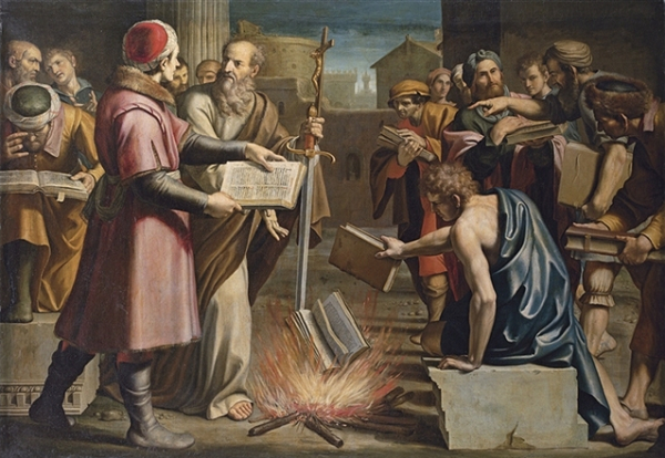 Saint Paul and the burning of pagan books at Ephesus, Lucio Massari, 1559-1633