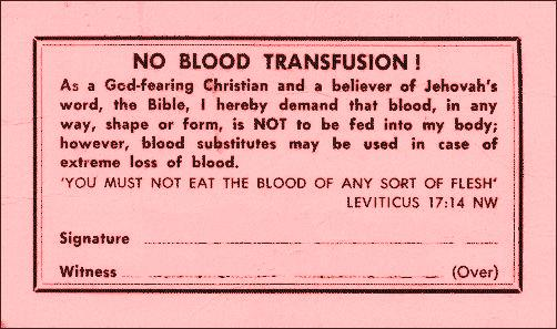 NO-BLOOD-TRANSFUSION
