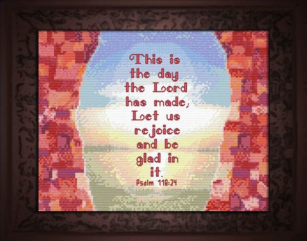 Psalm 118 cross stitch