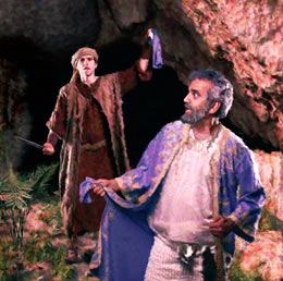 David and Saul in the cave