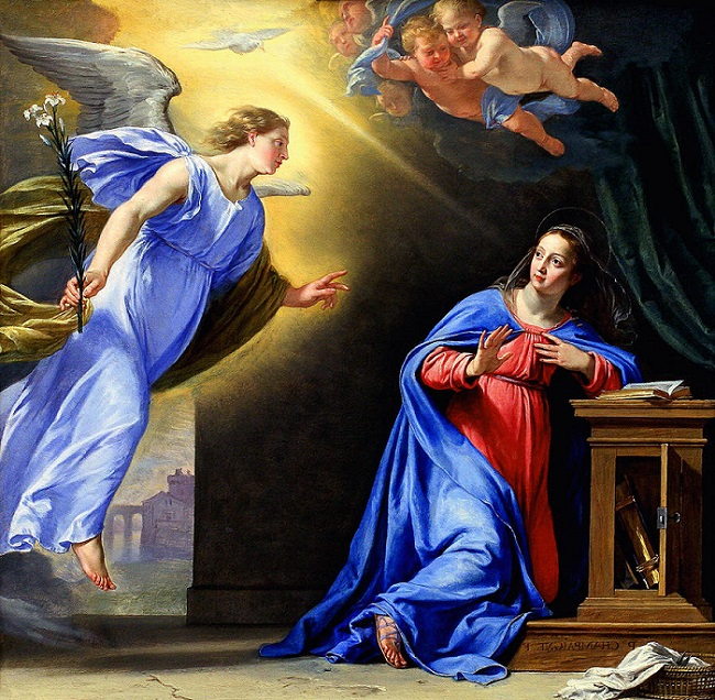 The Annunciation, Philippe de Champaigne, c 1644