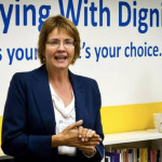 Wanda Morris, CEO of Dying with Dignity Canada, said the governmentǃÙs unexpected decision to take away the organizationǃÙs charitable status means it will soon be unfettered by government rules that restrict its political activities.